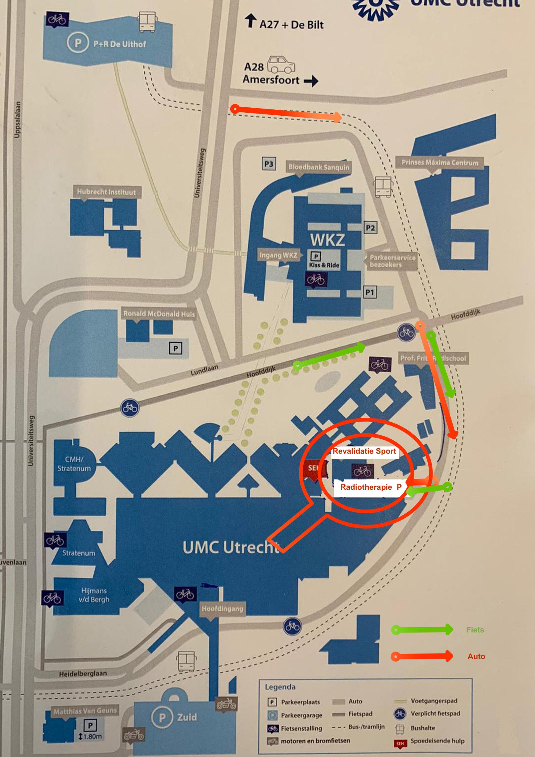 zwemschool-utrecht route zwemlocatie UMCU
